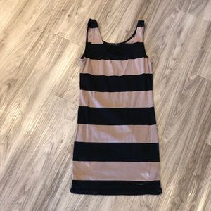 Brown and black striped bodycon